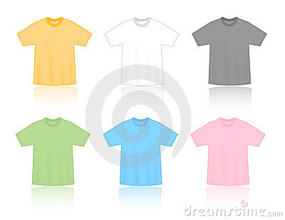 T-shirts blank templates