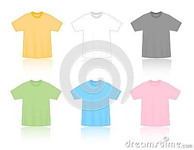 T-shirts blank templates