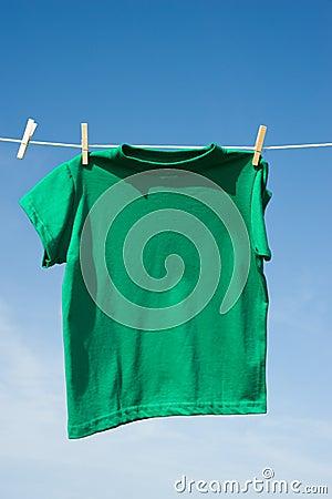 T-Shirts on a Clothesline
