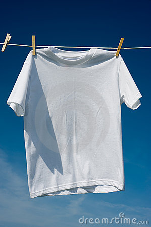 T-Shirts on a Clothesline