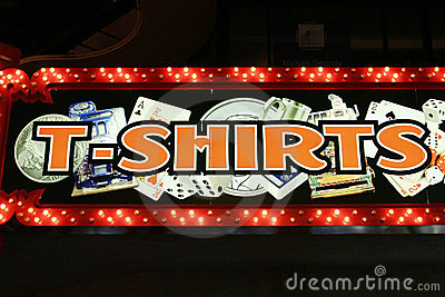 T-shirts neon lights Editorial Stock Photo