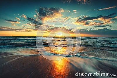 stock image of  beautiful sunrise over the sea