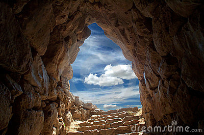 stock image of  cave at mycenae 2