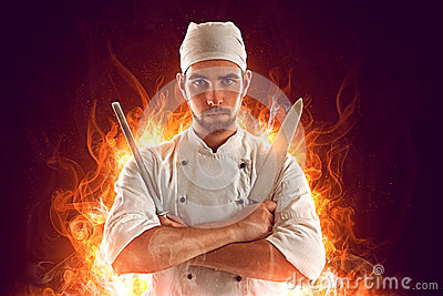 stock image of  chef
