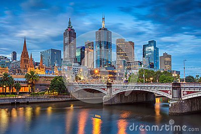 stock image of  city of melbourne.