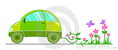 stock image of  ecological car