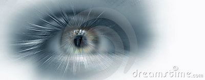 stock image of  eye vision