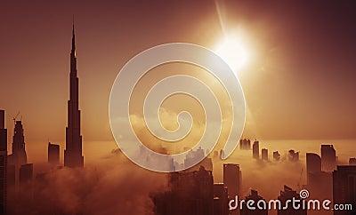 stock image of  fog in dubai