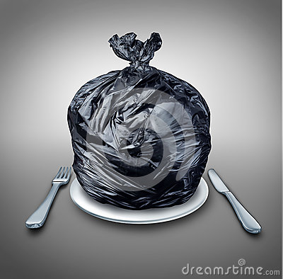 stock image of  food garbage
