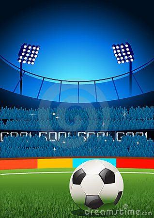 stock image of  football stadium