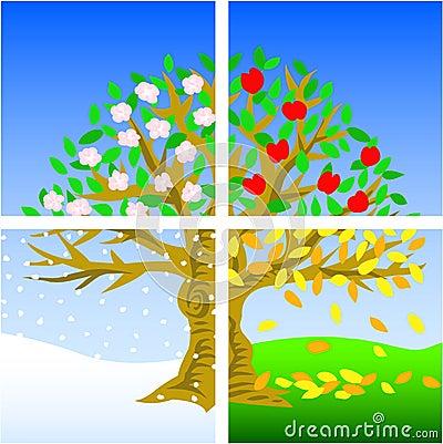 stock image of  four seasons