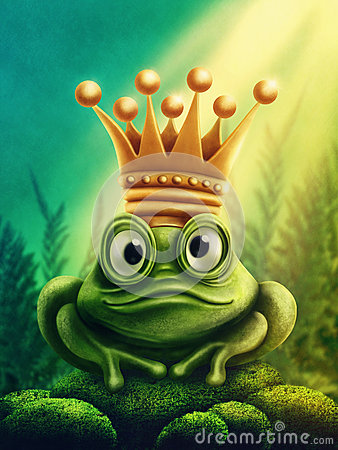 stock image of  frog prince