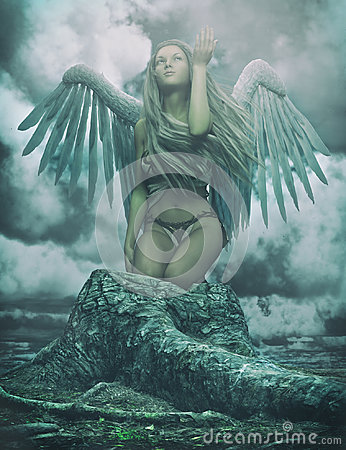 stock image of  guardian angel