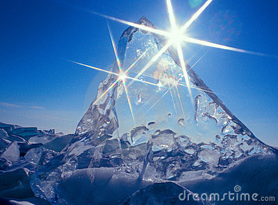stock image of  ice and sun