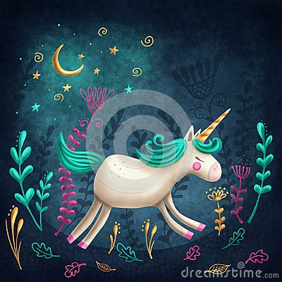stock image of  little unicorn