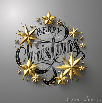 stock image of  merry christmas calligraphic lettering