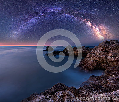 stock image of  milky way over the sea