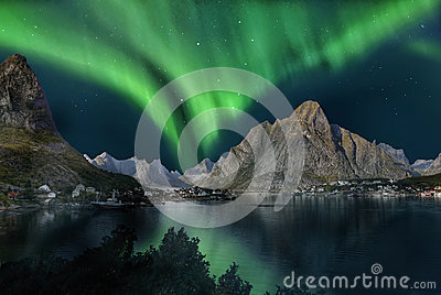 stock image of  northern lights, aurora borealis