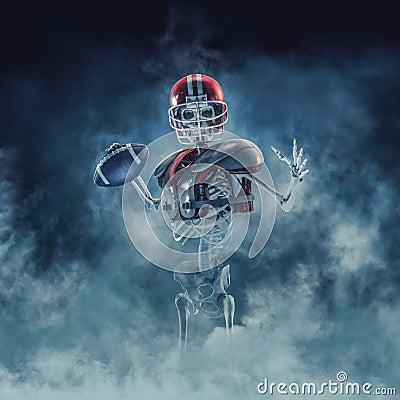 stock image of  the phantom football quarterback