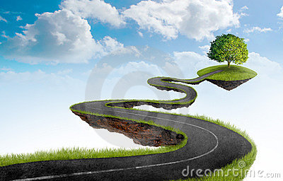stock image of  the road to tree