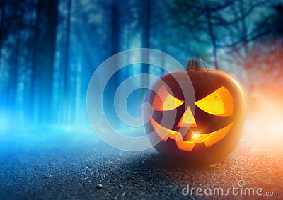 stock image of  spooky halloween night