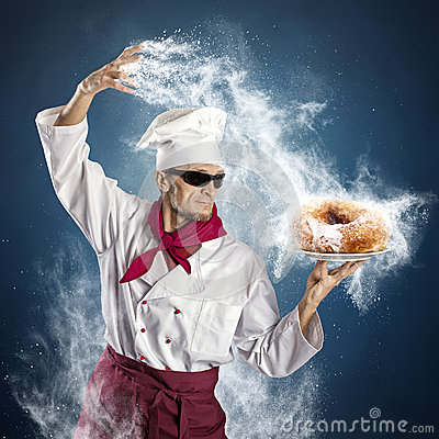 stock image of  sugar donut