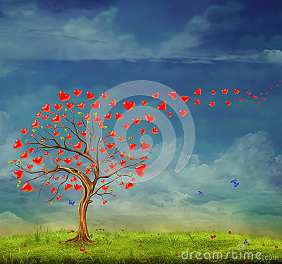 stock image of  tree of love
