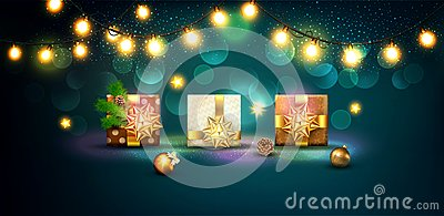 stock image of  vector illustration for merry christmas and happy new year . gre