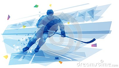 stock image of  hockey player on the run