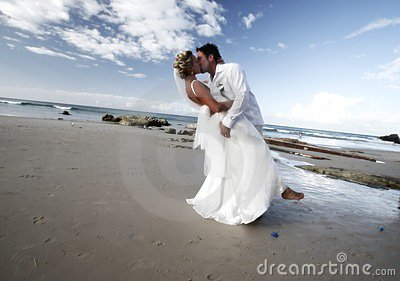 stock image of  wedding kiss