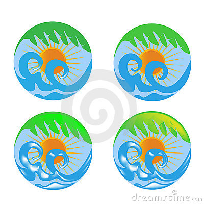 κύματα ήλιων φοινικών λογό&ta