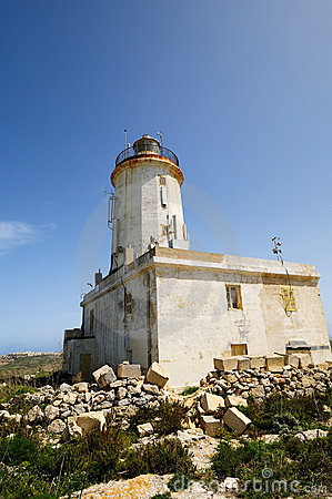 The Ta Gordon Lighthouse, Gozo, Malta.