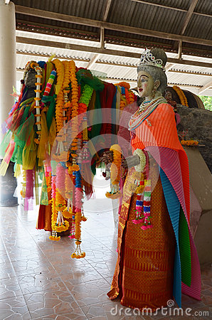 Free Ta-khian Statue In Thailand Stock Images - 48489894