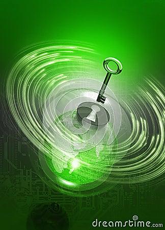 Tła komputeru ziemi kuli ziemskiej klucz lubi