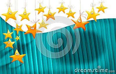 Tła kreskówek gwiazdy