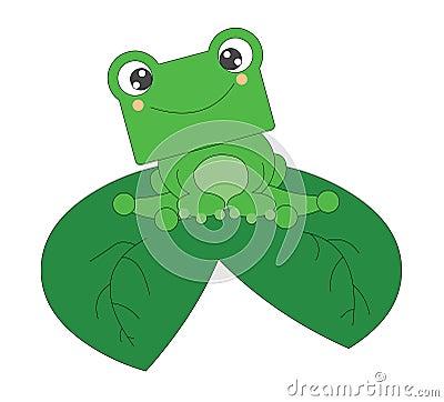 Tła ślicznej żaby odosobniony mały biel