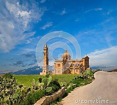 Free Ta  Pinu Church, Gharb Village, Gozo, Malta Stock Images - 21455104