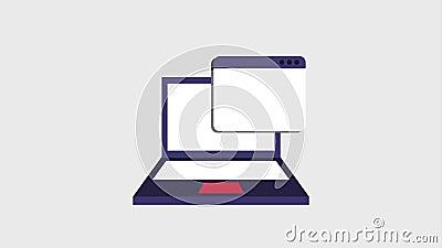 Tab window icons stock footage