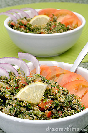 Free Tabbouleh Bowls Royalty Free Stock Images - 7956089