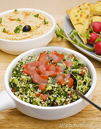 Tabbouleh with Hummus