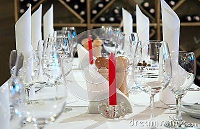 Tabella del ristorante