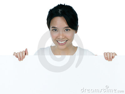 Tabellone per le affissioni attraente della holding della donna