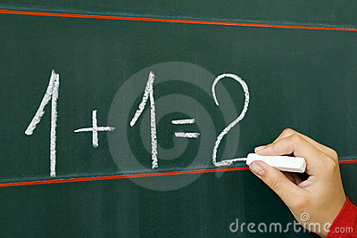 On table 1+1=2