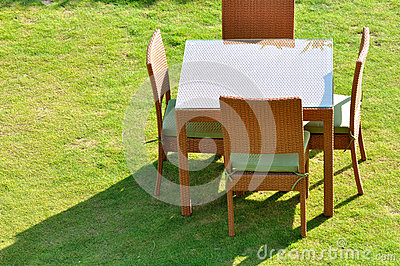 Table chair and shadow