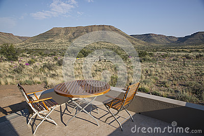 Table and Chairs in the Karoo