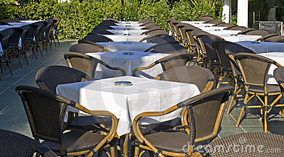Table and chairs in outdoor