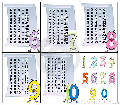 Table de multiplication partie 2 image stock image for Table multiplication de 9