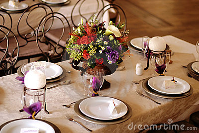 Table decor at a wedding 2