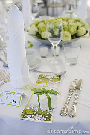 Free Table Decoration For Wedding Stock Image - 10194511