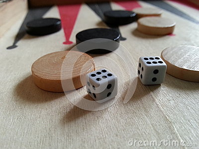Table dice Editorial Stock Image